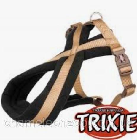 Шлея Trixie Premium туристична L 60-90 см/ 25 мм карамель (204114)