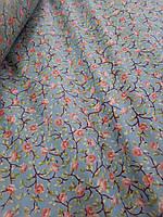 Тканина для напірників Квіточки 100% бавовна ш.220 на метраж