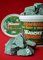 Камень для сауны жадеит колотый (средний) 20 кг.