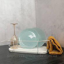 Сушарка для посуду, стелаж з нержавіючої сталі. код товару: 7757