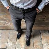 Мужские зауженные стильные брюки, фото 2
