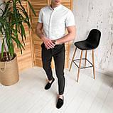 Мужские зауженные стильные брюки, фото 3