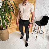 Мужские зауженные стильные брюки, фото 5