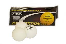 Шарики для настольного тенниса STIGA 3* (3шт в упаковке).