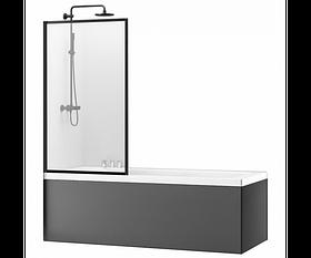 Шторка для ванной Rea Lagos Fix 70 Черный REA-K7689