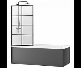 Шторка для ванной Rea Lagos-1 70 Черный REA-K4569