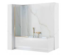 Шторка для ванной Rea Elegant 80 Золото REA-W5601