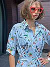 Сукня жіноча голуба з принтом Sonya Scandal MKSS220420, фото 2