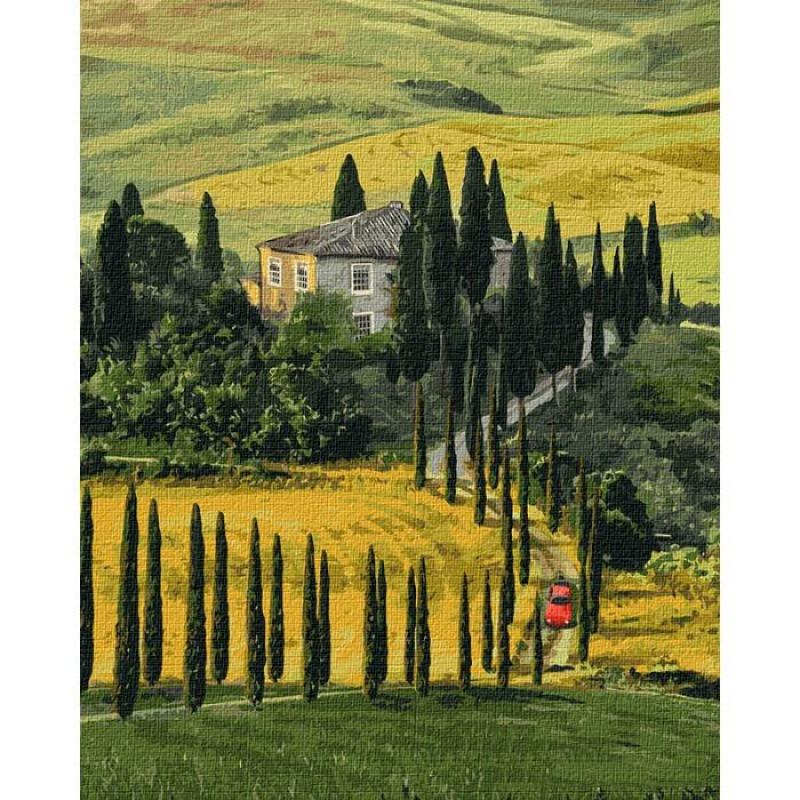 """Картина за номерами. Ідейка """"Подорож до Тоскани"""" 40х50 см KHO2297"""