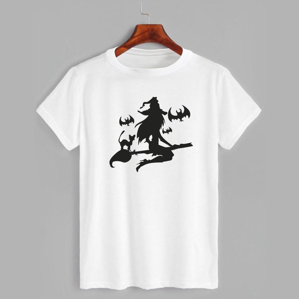 Футболка з принтом Хеллоуїн Witch and Bats (2342)