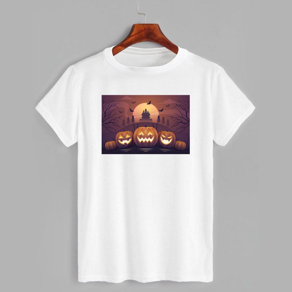 Футболка з принтом Хеллоуїн Dark pumpkin (2337)