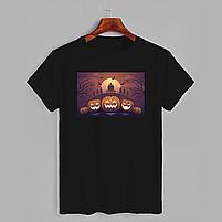 Футболка з принтом Хеллоуїн Dark pumpkin (2337), фото 2