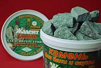 Жадеит камень для саун и бань колотый (средний) 5 кг.