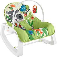 Fisher-Price Крісло качалка з вібрацією шезлонг Єнот GVG46 Infant to Toddler Rocker