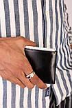 Гаманець чоловічий чорний код 424, фото 3