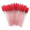 Щіточка для вій нейлонова гліттерна червона (50шт/уп)