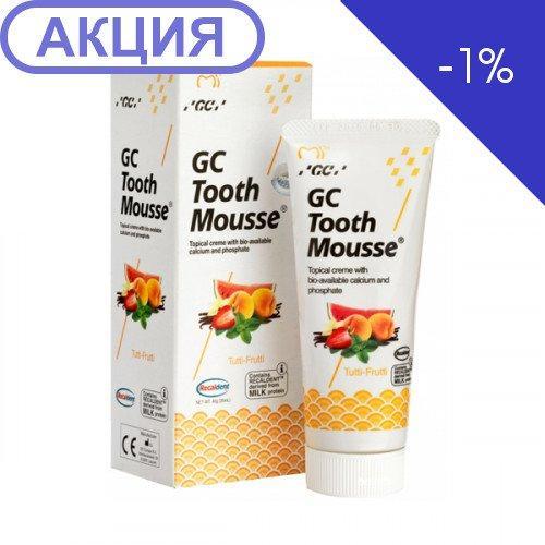 Тус Мус Tutti-Frutti (TOOTH MOUSSE) гель для ремінералізації та зміцнення зубів GC, 1 тюбик 35 мл