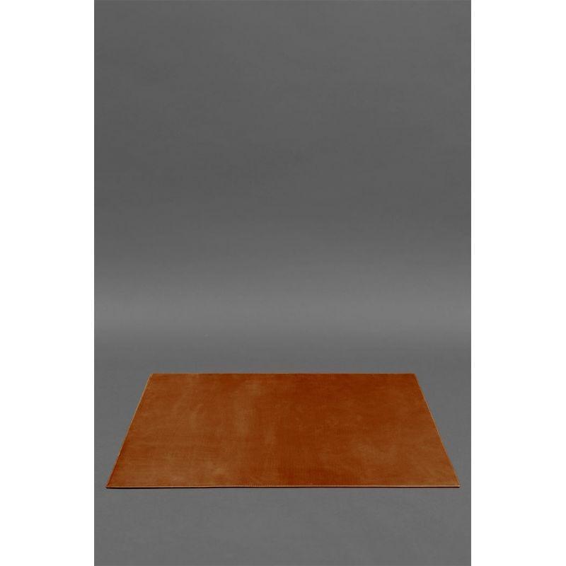Накладка на стіл керівника - Шкіряний бювар 1.0 Світло-коричневий Crazy Horse