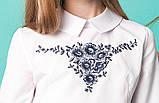 Блузка шкільна з вишивкою м. 1050, фото 3