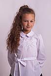 Блузка шкільна з вишивкою м. 1050, фото 5