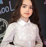 Сорочка для дівчинки з принтом і мереживом, фото 2