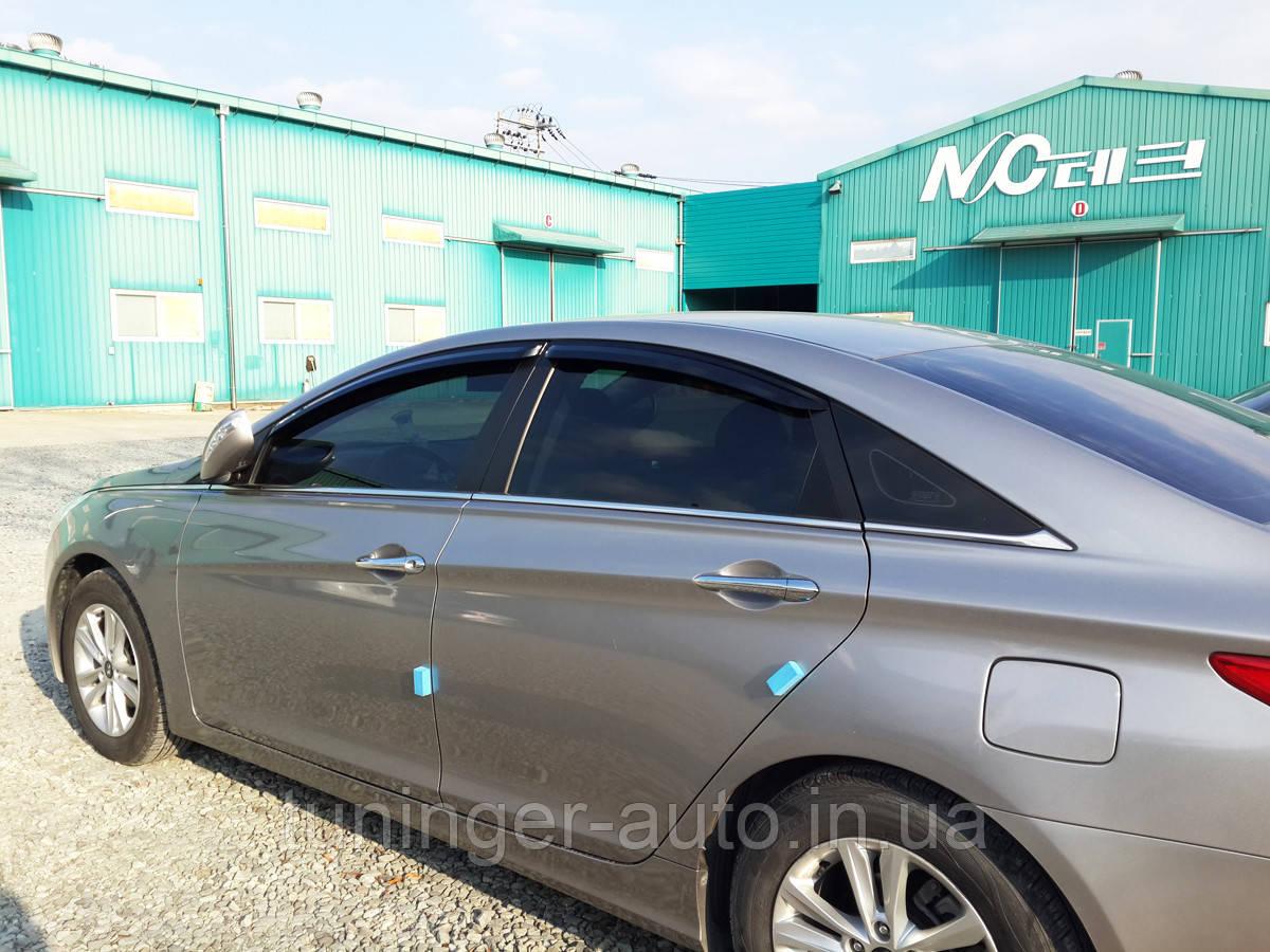 Ветровики, дефлекторы окон Hyundai  Sonata YF 2009-2014