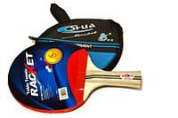 Ракетка для настольного тенниса в чехле.