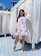 Свободное платье рубашка с поясом   р-ры 42-48 арт.  692