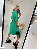 Платье свободного кроя спереди, сзади по линии талии резинка, открытая спина р-ры S-L арт. 320