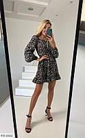 Лёгкое летнее платье а-силуэта  р-ры S-M,  M-L арт. 282