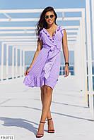 Лёгкое летнее платье на запах с ршками  р-ры 42-48 арт. 1089