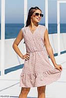 Лёгкое свободное платье  р-ры 42-48 арт. 1085