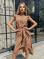 Стильное прогулочное платье миди  р-ры 42-48 арт. 220
