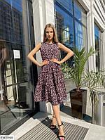 Стильное прогулочное платье свободное р-ры 42-48 арт. 219