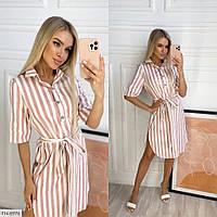 Платье рубашка в полоску  р-ры 42-48 арт. 3075