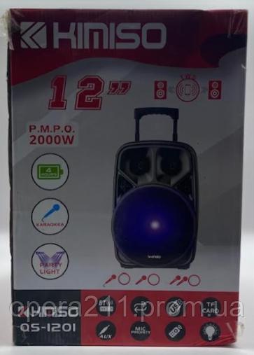 Колонка KIMISO QS-1201 (з бездротовим мікрофоном) ('BASS / W) (1шт)