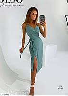 Стильное платье на запах р-ры 42-48 арт. 9078