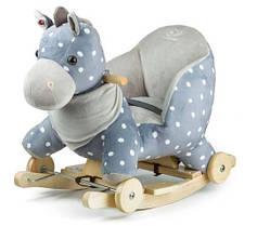 Лошадка-качалка с колесиками Kinderkraft Gray
