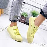 Кеди жіночі All лимонні 1349, фото 4