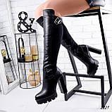 Сапоги женские Dolf черные 2221 кожа ДЕМИ, фото 6