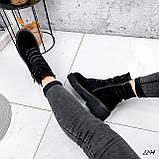 Ботинки женские  Bridge черные 2294 ЗИМА, фото 4