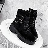 Ботинки женские  Bridge черные 2294 ЗИМА, фото 6