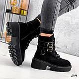 Ботинки женские  Bridge черные 2294 ЗИМА, фото 10