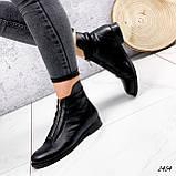 Ботинки женские Harry черные 2454 кожа ЗИМА, фото 3