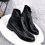 Ботинки женские Harry черные 2454 кожа ЗИМА, фото 4