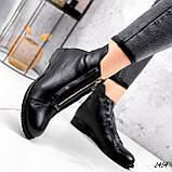 Ботинки женские Harry черные 2454 кожа ЗИМА, фото 6