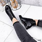 Ботинки женские Harry черные 2454 кожа ЗИМА, фото 7