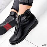Ботинки женские Harry черные 2454 кожа ЗИМА, фото 10