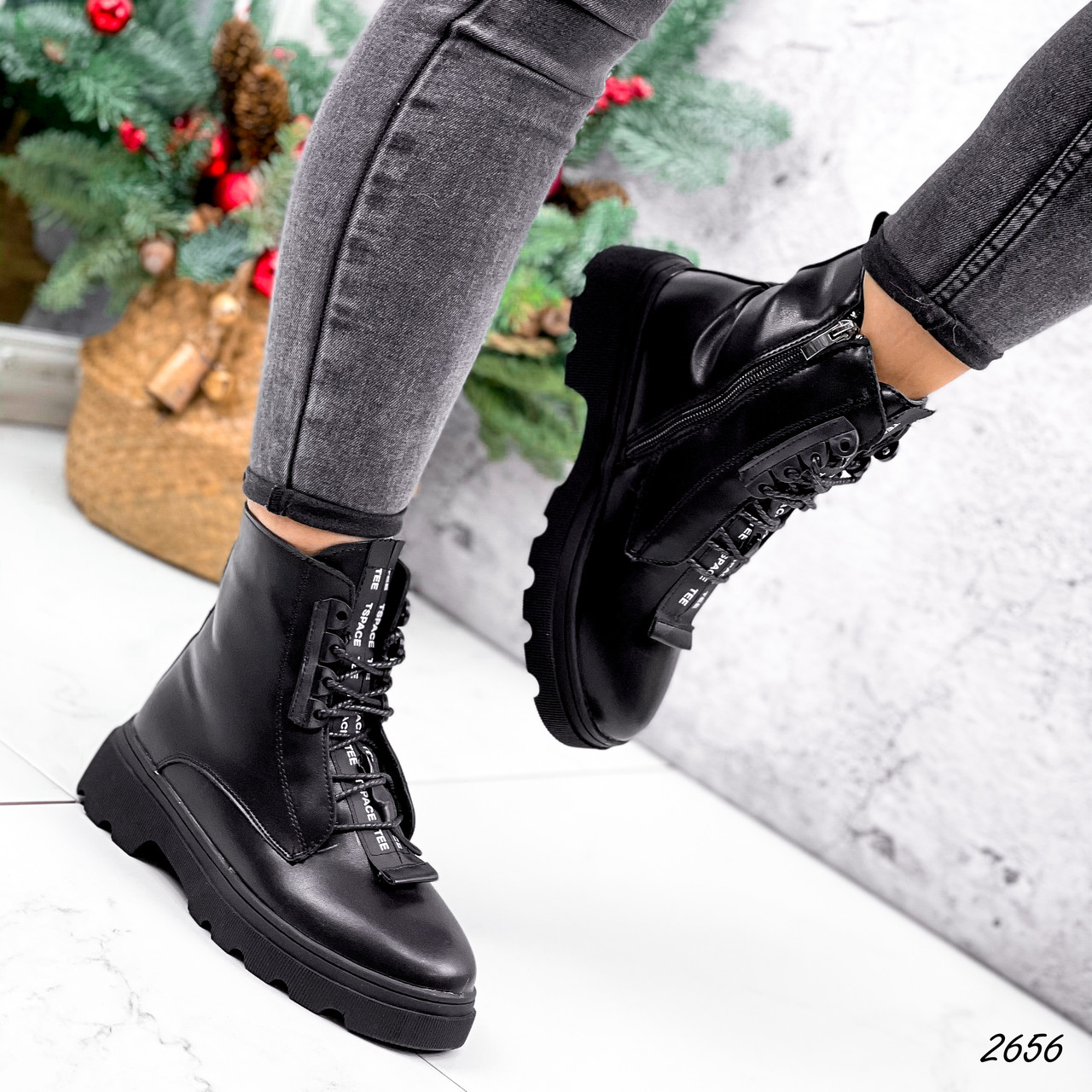 Ботинки женские Selty черные 2656 Зима