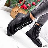 Ботинки женские Selty черные 2656 Зима, фото 6